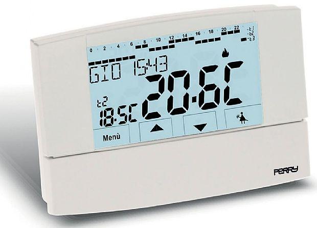 Cronotermostato digitale settimanale serie zefiro touch for Manuale termostato perry