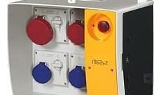 Scame Quadro Mbox2 con 1 presa 2P+T 16A, 2 prese 3P+T16A e 1 presa 3P+T 32A