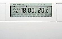 Hager DIGI2 ECO Bianco Cronotermostato a parete digitale a batteria