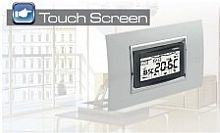 """Perry Electric Cronotermostato ad incasso a menù serie """"MOON"""" TOUCH SCREEN"""