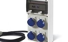 Scame Quadro portatile Block 4 con 4 prese 2P+T 16A