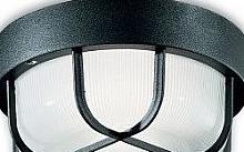 Plafoniere Con Griglia : Leonardo sg ner plafoniera nera vetro piatto con griglia