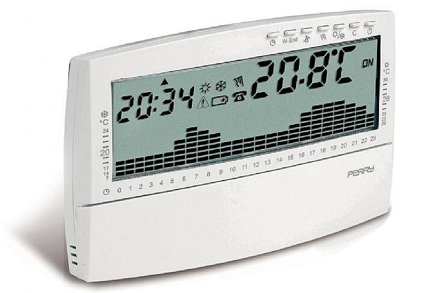 Perry electric 1crcr017bg cronotermostato da parete for Perry termostato manuale