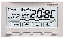 Perry Electric Cronotermostato Parete Touchscreen Next Bianco Batteria