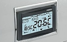 """Perry Electric Cronotermostato ad incasso a menù  230V serie """"MOON"""" TOUCH"""