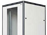 EmaCereda Armadio Rack a Pavimento 1800 x 600 x 600 Porta in vetro 38 U