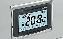 """Perry Electric Termostato digitale ad incasso TOUCH serie """"Moon"""" 230V"""