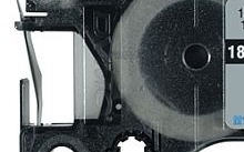 Dymo Nastro Rhino 9x5,5 mt nero su sfondo bianco