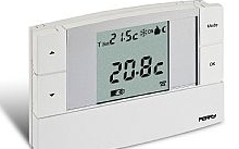 Controllo temperatura ambiente perry electric fantini for Termostato solaris
