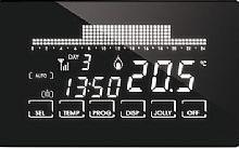 Fantini Cosmi Cronotermostato semi-incasso settimanale TOUCH SCREEN WIFI 230V nero