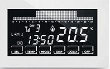 Fantini Cosmi Cronotermostato semi-incasso settimanale TOUCH SCREEN WIFI 230V bianco