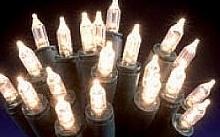Wimex Catena con lampade a pisello LED bianca