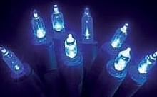 Wimex Catena con lampade a pisello LED blu