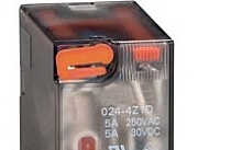 Lovato Relè con indicatore LED e attuatore meccanico 24VAC 4 scambi