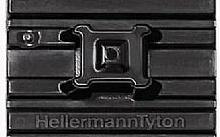 Hellermann Tyton BASETTA FLESSIBILE NERA 28X28 CON ADESIVO SPECIALE FMBAPT (Conf.10pz)