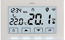 Fantini Cosmi Cronotermostato Wi-Fi da parete 230V, colore bianco