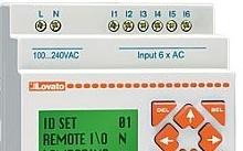 Lovato Modulo base, tensione di alimentazione ausiliaria 24VAC, 12/8 a relè