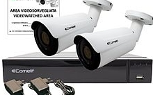 Comelit KIT Videosorveglianza AHD SMART 2MP XVR 8 canali 2 bullet