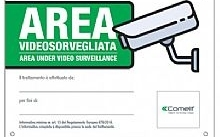 Comelit Cartello area videosorvegliata in italiano