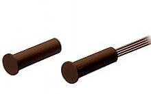 EmaCereda Contatto magnetico con corpo in plastica Ø 7,5mm marrone