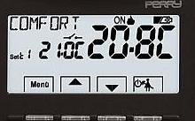 Perry Electric Termostato da incasso digitale con autonomia 24 mesi
