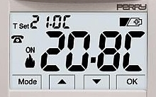 Perry Electric Termostato digitale 3V da incasso touch screen MOON SOFT TOUCH