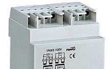 Perry Electric Trasformatore 63VA per servizio continuo uscite 12-12-24V 3 DIN