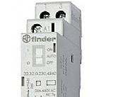 Finder Contattore modulare 25A 230V 2 contatti NO con selettore automatico