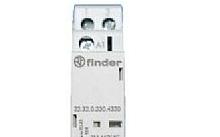 Finder Contattore modulare 25A 2NO 230Vac 1 modulo