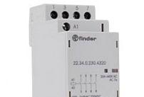 Finder Contattore modulare 25A 230V 4 contatti NO