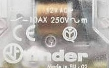 Finder Interruttore bipolare 2 NO - AC (50Hz) - 12 V