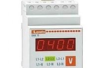 Lovato Voltmetro digitale di montaggio per guida DIN